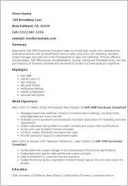 Sap Sd Consultant Resume Sample Ideas Collection Sap Crm Resume Samples Also Summary Gallery