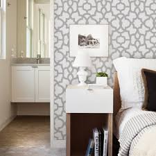 trellis wallpaper light grey peel and stick
