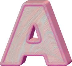 presentation alphabets birthday cake letter a