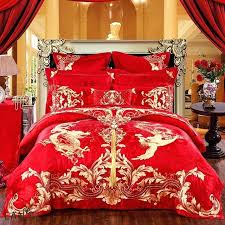 Jacquard Bedding Sets And Gold Duvet Covers Luxury Gold Embroidery Jacquard