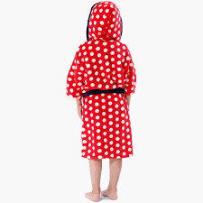 robe de chambre minnie enfant de nuit robe corail polaire peignoir minnie blanc points