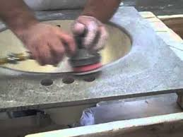 Corian Sanding Pads Surfprep Foam Abrasive Disc Sanding Solid Surface Sink Bowl After