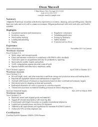 sample resume for warehouse forklift operator professional