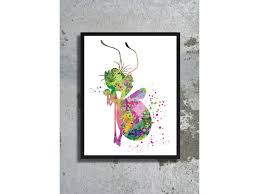 princess and the frog watercolor print ray the firefly print