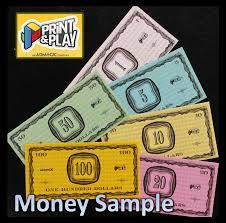 paper money sample limit one per order print u0026 play admagic