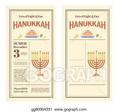 eps vector happy hanukkah greeting card design snowing holiday