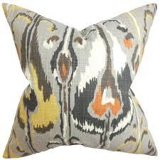 amazon com the pillow collection gudrun ikat pillow gray home