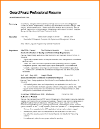 Help Desk Sample Resume by Sample Resume Summary Statement Obviously Collect Ml