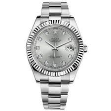 rolex bracelet white gold images Rolex datejust ii silver diamond dial 18k white gold fluted bezel jpg