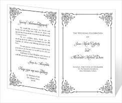 wedding church program template wedding program templates free premium templates