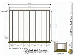 shed layout plans shed plans 10x10 gable shed construct101 10x10 shed plan duck walk