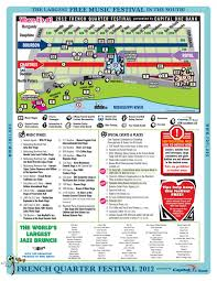 Street Map New Orleans French Quarter by 2012 French Quarter Festival Map Wwno