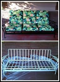 vintage glider cushions outdoor old metal glider cushions