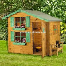 customed design wood playhouse used for kids playsets outdoor
