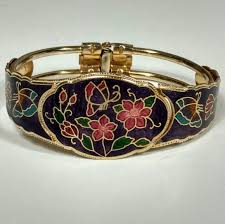 vintage jewelry bracelet images Vintage jewelry cloisonne hinged bracelet butterflies poshmark jpg