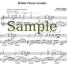 wedding march bridal chorus sheet here comes the wedding march