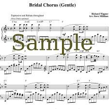 wedding dress chord bridal chorus sheet here comes the wedding march