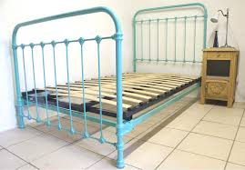 Single Metal Bed Frame Sale Brilliant Single Metal Bed Turquoise Blue 3 Ft 9 Renovated