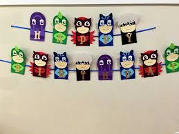 pj masks party pj masks birthday banner pj masks bunting pj