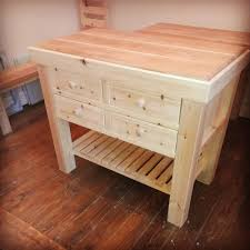 handmade bespoke pine kitchen island butchers block kitchen