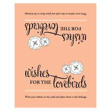 Wishes For Wedding Cards A Wish For The Lovebirds Well Wishing Cards The Knot Shop