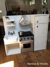 Play Kitchen Sink harlow u0026 thistle diy play kitchen toy kitchen with farmhouse