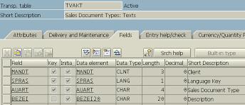 sap document types table sap tables abap auart tvakt sales document types texts