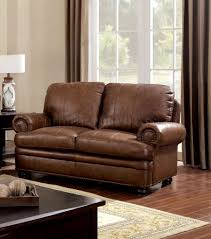 sofa cm6318 in brown top grain leather match w options