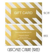 free gift cards online free printable gift card templates that can be customized online