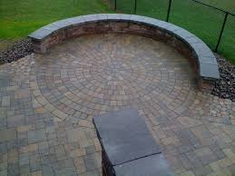 Round Stone Patio Table by Round Patio