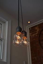 triple light bulb socket triple pendant light steel socket amazon com