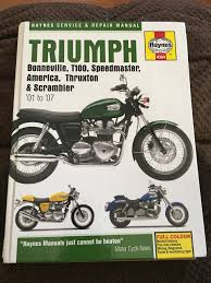 triumph bonneville service and repair manual haynes service and