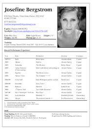 Beginner Acting Resume Template Technical Theatre Resume Template Actors Resume Exle Acting