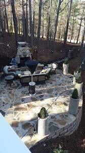 Backyard Milton - nantucket style backyard renovation in milton ga