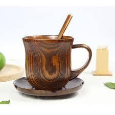 Handmade Tea Cups - one creative classic tea coffee cup wood mug