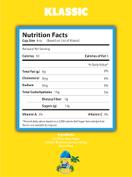 kona ice nutrition