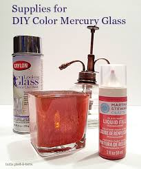 diy colored mercury glass candle holders nomadic decorator
