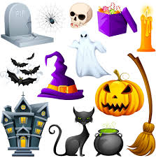 cute halloween cat hunted cute halloween object pack vector download