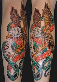 45 snake and eagle tattoos collection