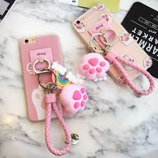 art glass cat ring holder images Pink transparent cat pad iphone phone case with ring holder jpg