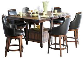 homelegance bayshore 7 piece counter height table set with storage