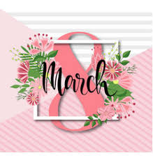 flowers international march design with flowers international womens vector image