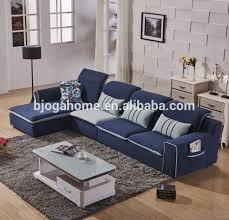 canapé d angle avec appui tête ogahome simple moderne bleu clair tissu canapé d angle avec appui
