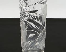 Antique Lead Crystal Vase American Brilliant Etsy