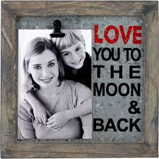 fetco home decor avidar love you to the moon 8 5 x 8 5 photo frame