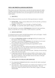 Hostess Description On Resume Server Job Description Resume