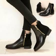 s heel boots sale fashion ankle zipper martin boots low flat heel bootie