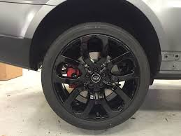 matte range rover land rover sport xpel matte stealth film powder coat rims
