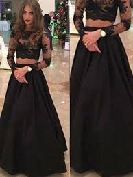 lace dresses stylish a line princess scoop floor length sleeves lace