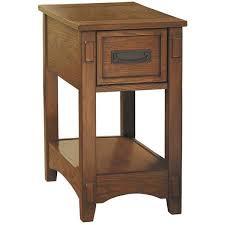 Power Chairside End Table Breegin Oak Chairside End Table Z T007 319 Ashley Furniture Afw